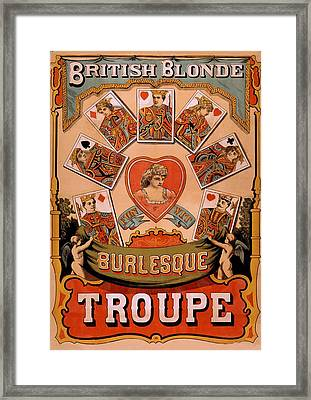 British Blondes Troupe Introduced Framed Print by Everett