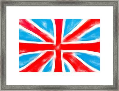 British Flag Framed Print by Tom Gowanlock
