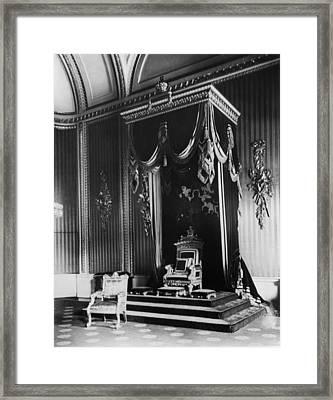 British Royalty. Throne Room Framed Print by Everett