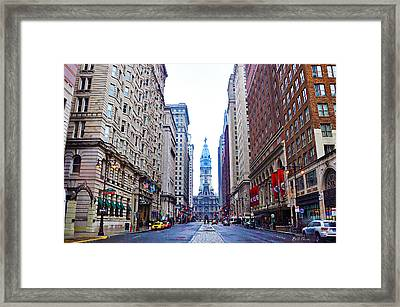 Broad Street Avenue Of The Arts Framed Print by Bill Cannon