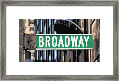 Broadway Sign Color 16 Framed Print by Scott Kelley