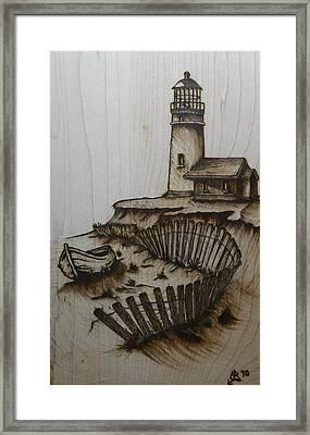 Broken Beacan Framed Print by Chad Bridges