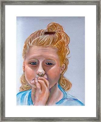 Broken Hearted Framed Print by Carol Allen Anfinsen