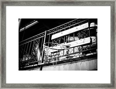 Broken Hoops Framed Print by Paul Bartoszek