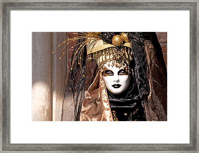 Bronce Mask Framed Print by Karin Haas