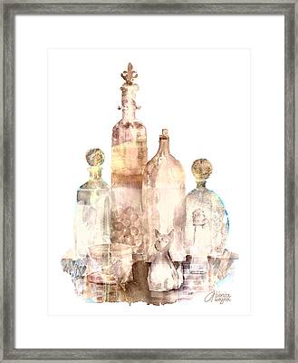 Bronzed Bottles Framed Print by Arline Wagner