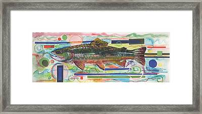 Brook Trout 1 Framed Print by Michelle Grove