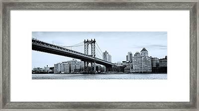 Brooklyn Bridge Framed Print by Photography Art