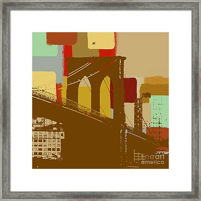 Brooklyn Bridge  Framed Print by Art Yashna