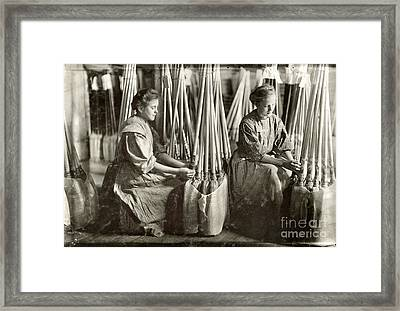 Broom Manufacture, 1908 Framed Print by Granger