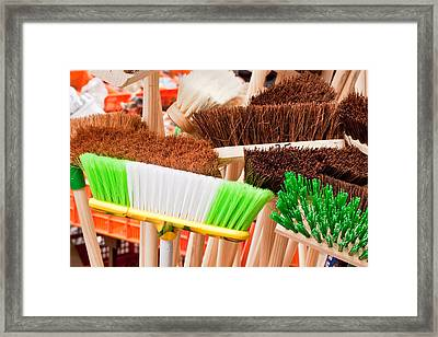 Brooms Framed Print by Tom Gowanlock