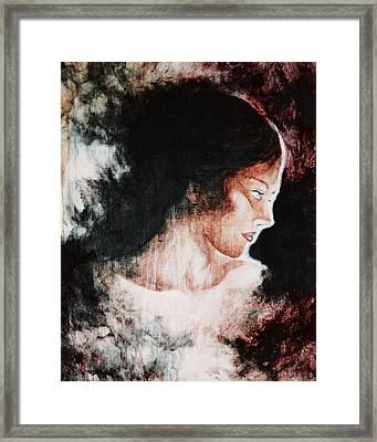 Brown Lady Framed Print by Sheri Lauren Schmidt