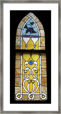 Brown Stained Glass Window Framed Print by Thomas Woolworth