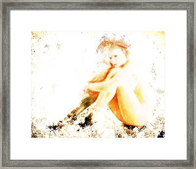 Brown Study Framed Print by Arne Hansen