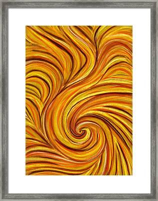 Brown Swirl Framed Print by Hakon Soreide