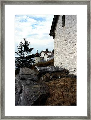 Browns Head Lighthouse Framed Print by Skip Willits