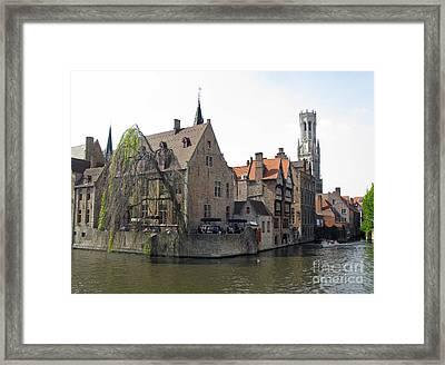 Brugge. Belgium. Spring 2011 Framed Print by Ausra Huntington nee Paulauskaite