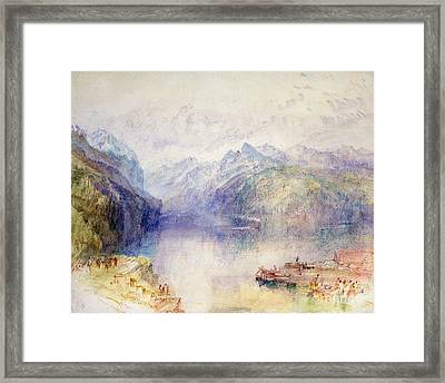 Brunnen  Framed Print by Joseph Mallord William Turner