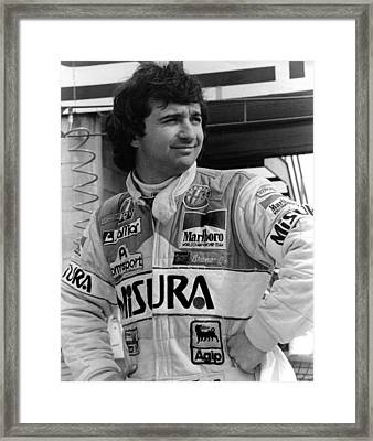 Bruno Giacomelli Framed Print by Mike Flynn