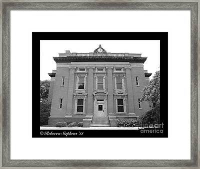 Brunswick Historical Court House Framed Print by Rebecca Stephens