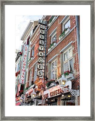 Brussels - Place Sainte Catherine Restaurants Framed Print by Carol Groenen