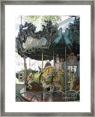 Bryant Park Carousel Framed Print by Blanche Knake