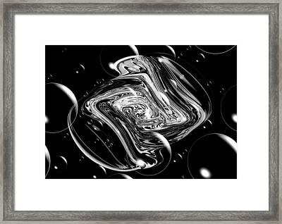 Bubble Blast Framed Print by Karen M Scovill