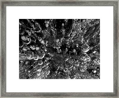 Bubble Towers Trapped In Ice Macro Image Framed Print by Adam Long