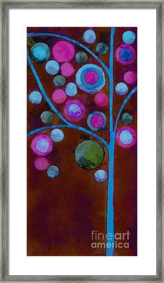 Bubble Tree - W02d - Left Framed Print by Variance Collections