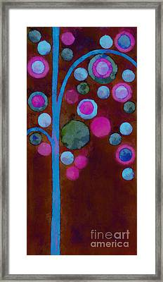 Bubble Tree - W02d Framed Print by Variance Collections