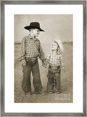 Buckaroo Friends Framed Print by Cindy Singleton