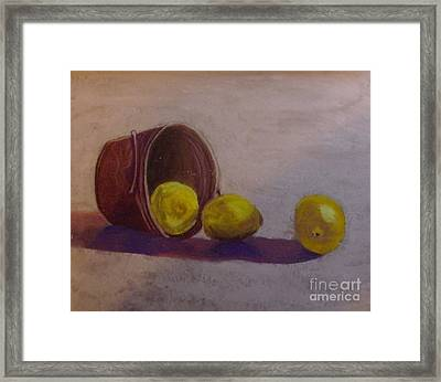 Bucket Of Lemons Framed Print by Calliope Thomas