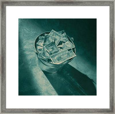 Buckets Of Money Framed Print by Penny Cash
