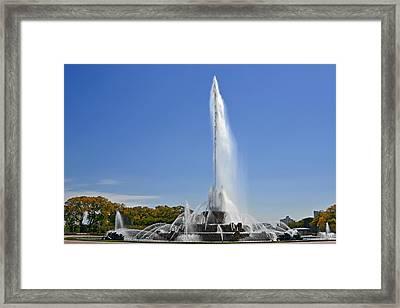 Buckingham Fountain - Chicago's Iconic Landmark Framed Print by Christine Till