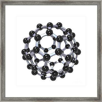 Buckminsterfullerene Or Buckyball C60 18 Framed Print by Russell Kightley