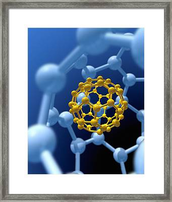 Buckyball Technology Framed Print by Victor Habbick Visions