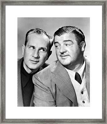 Bud Abbott And Lou Costello Abbott Framed Print by Everett