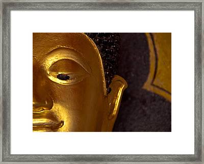 Buddha's Face Framed Print by Preston Coe