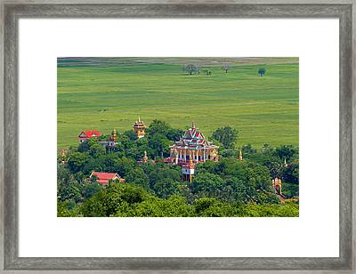 Buddist Temple Framed Print by David Freuthal