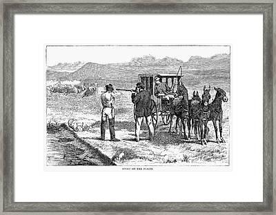 Buffalo Hunting, 1874 Framed Print by Granger