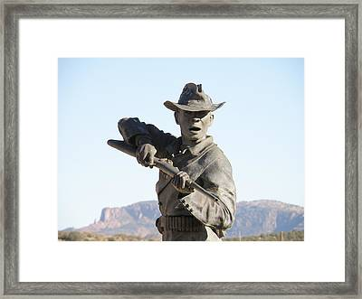 Buffalo Soldier Framed Print by Feva  Fotos