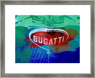 Bugatti Badge Framed Print by Naxart Studio