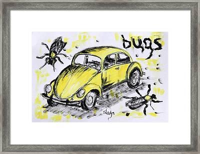 Bugs Framed Print by Sladjana Lazarevic