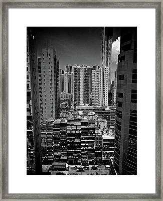 Buildings In Hong Kong Framed Print by All rights reserved to C. K. Chan