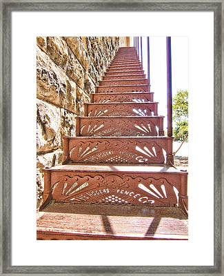 Built By The Rogers Fence Co Framed Print by Douglas Barnard