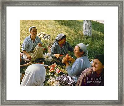 Bulgaria: Peasants Framed Print by Granger
