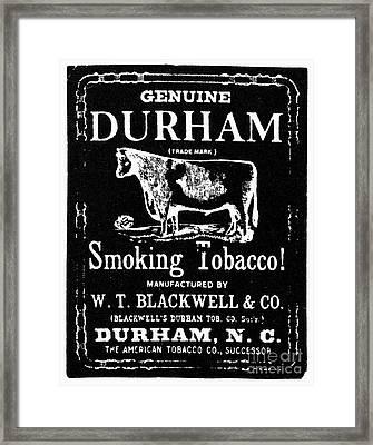 Bull Durham Tobacco, 1864 Framed Print by Granger