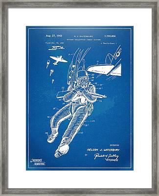 Bulletproof Patent Artwork 1968 Figure 14 Framed Print by Nikki Marie Smith