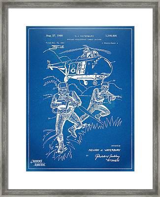 Bulletproof Patent Artwork 1968 Figure 15 Framed Print by Nikki Marie Smith