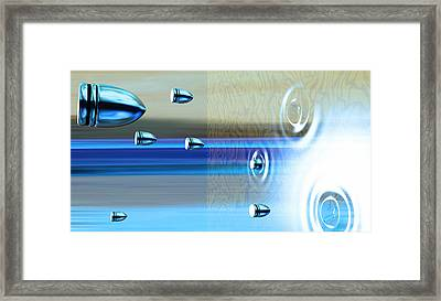 Bullets Firing Into An Invisible Barrier Framed Print by Christian Darkin